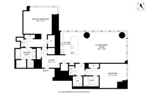 floorplan for 157 West 57th Street #44B
