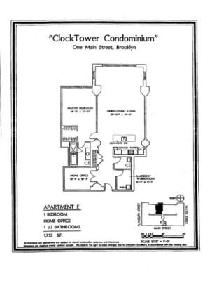 floorplan for 1 Main Street #12E