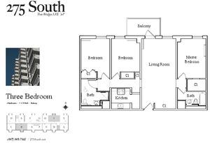 floorplan for 275 South Street #2J