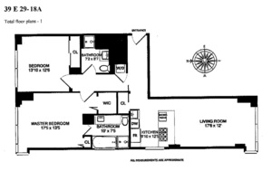 floorplan for 39 East 29th Street #18A