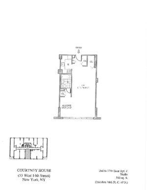 floorplan for 55 West 14th Street #5E