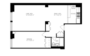 floorplan for 270 Park Avenue South #8G