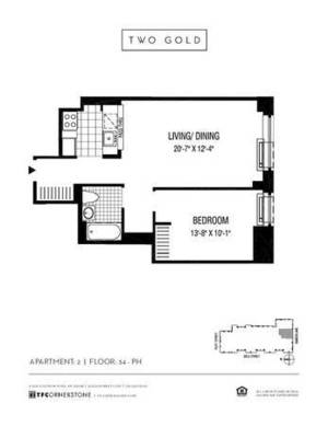 floorplan for 2 Gold Street #4802