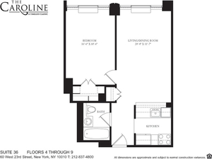 floorplan for 60 West 23rd Street #636