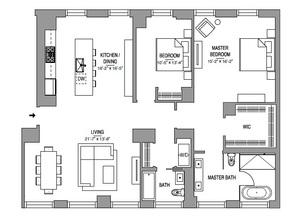 floorplan for 55 West 17th Street #1602