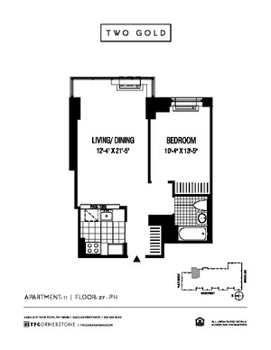 floorplan for 2 Gold Street #PH11