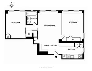 floorplan for 15 West 11th Street #9B