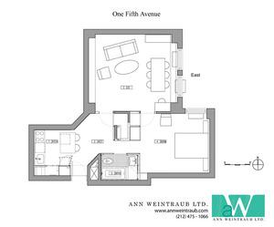 floorplan for 1 Fifth Avenue #8K