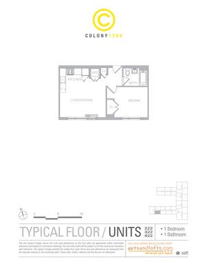 floorplan for 1209 Dekalb Avenue #222
