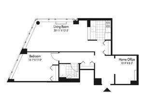 floorplan for 601 West 57th Street #6Q