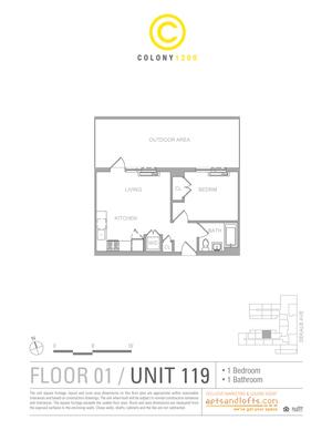 floorplan for 1209 Dekalb Avenue #119