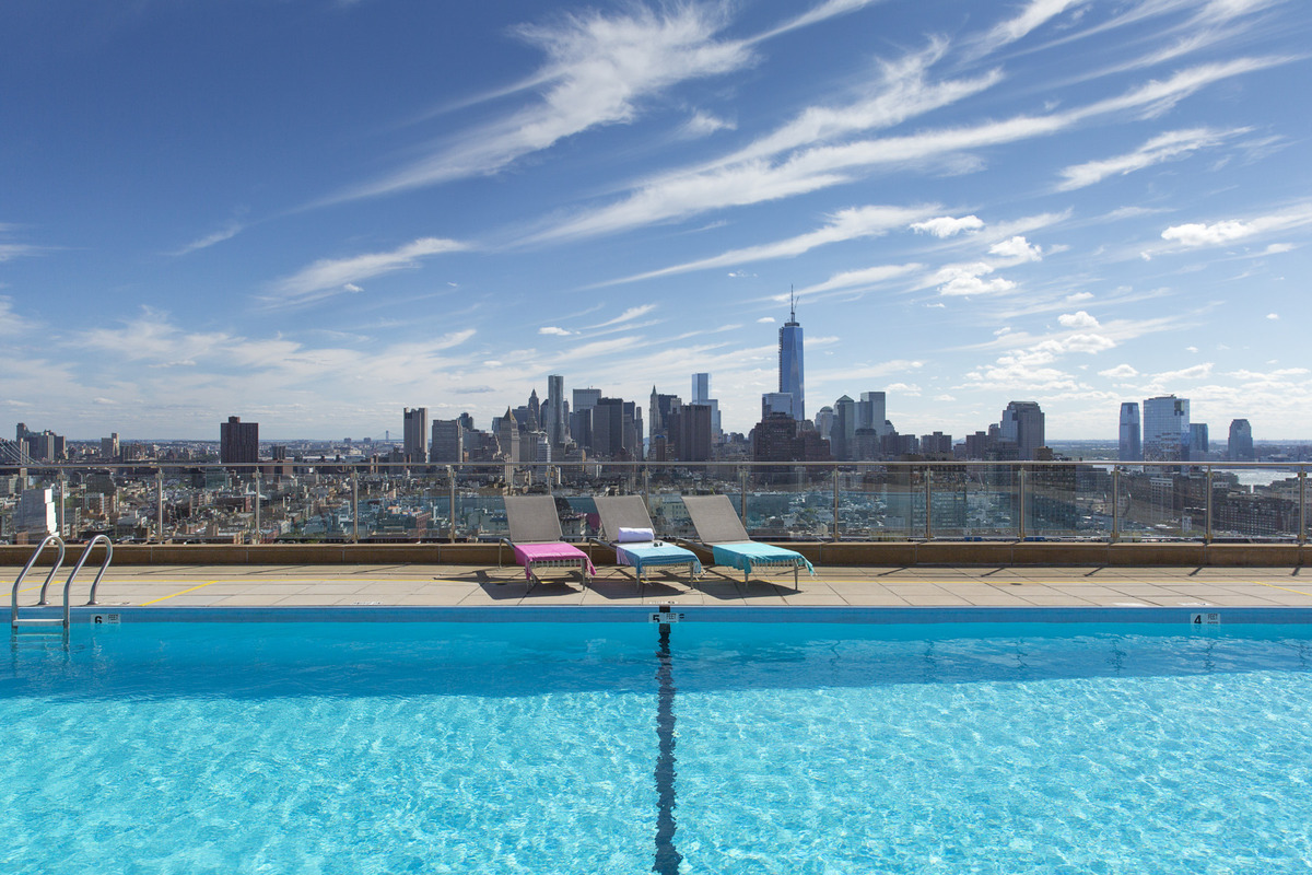 The hilary gardens at 300 mercer st in greenwich village for Affordable rooftop pools nyc