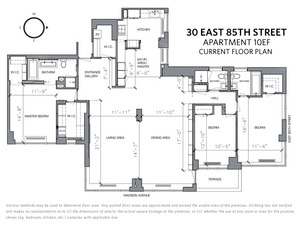 floorplan for 30 East 85th Street #10EF