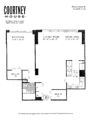 floorplan for 55 West 14th Street #15B