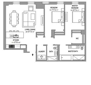 floorplan for 55 West 17th Street #304