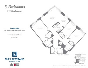 floorplan for 227 West 77th Street #15E