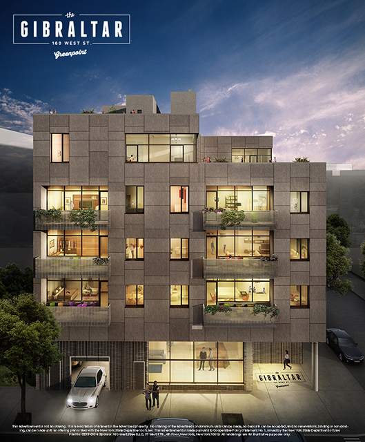 Greenpoint Apartments: The Gibraltar At 160 West St. In Greenpoint : Sales