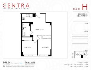 floorplan for 230 East 44th Street #8H
