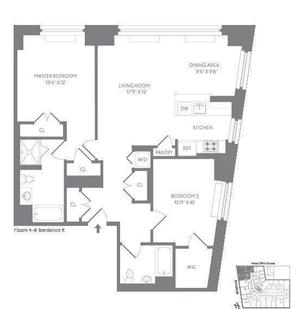 floorplan for 227 West 77th Street #7K