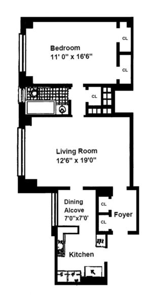 floorplan for 235 East 22nd Street #4T