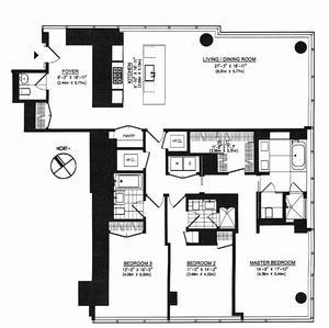 floorplan for 157 West 57th Street #36F