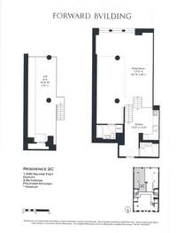 floorplan for 175 East Broadway #2C