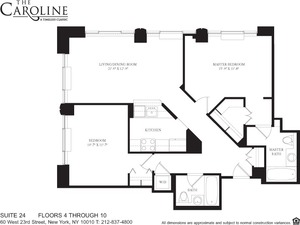 floorplan for 60 West 23rd Street #924