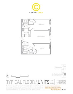 floorplan for 1209 Dekalb Avenue #216