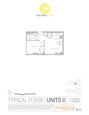 floorplan for 1209 Dekalb Avenue #207