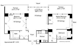floorplan for 422 East 72nd Street #36C