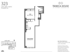 floorplan for 50 Murray Street #423