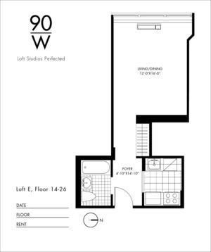 floorplan for 90 Washington Street #15E