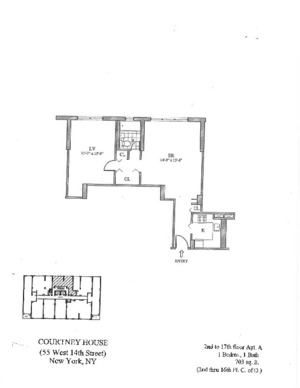 floorplan for 55 West 14th Street #7A