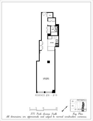 floorplan for 270 Park Avenue South #11B