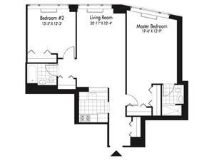 floorplan for 601 West 57th Street #39A