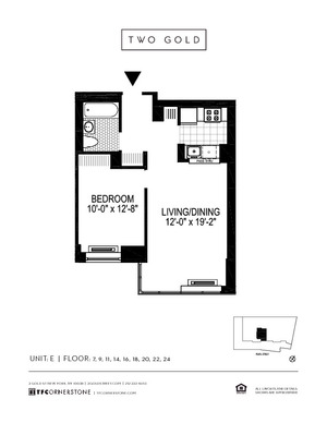 floorplan for 2 Gold Street #9E