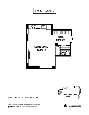floorplan for 2 Gold Street #2510