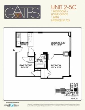 floorplan for 315 Gates Avenue #5C
