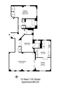 floorplan for 15 West 11th Street #6CD