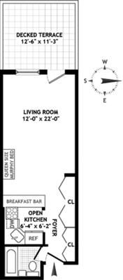 floorplan for 211 Thompson Street #2N