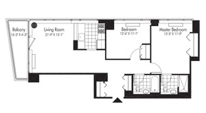 floorplan for 601 West 57th Street #22E