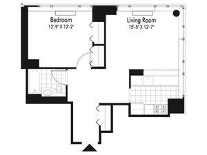 floorplan for 601 West 57th Street #VAR1B