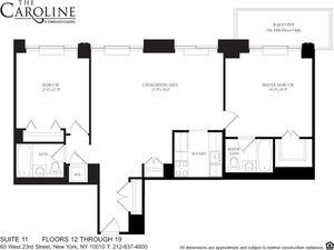 floorplan for 60 West 23rd Street #1611