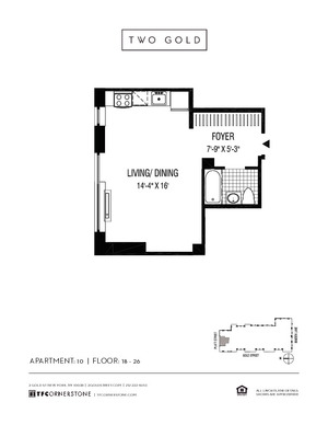 floorplan for 2 Gold Street #2210