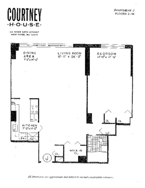 floorplan for 55 West 14th Street #7J
