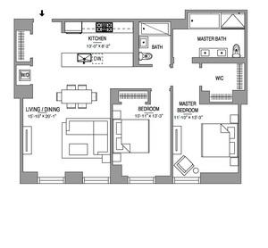 floorplan for 55 West 17th Street #903