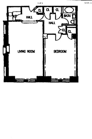 floorplan for 150 Central Park South #1104