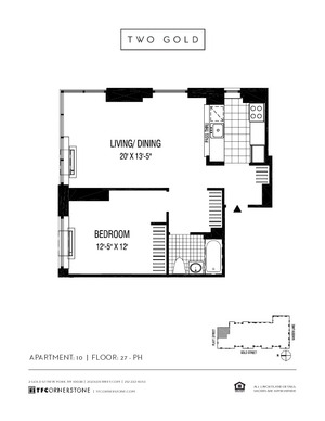 floorplan for 2 Gold Street #3610