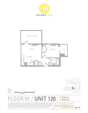 floorplan for 1209 Dekalb Avenue #120