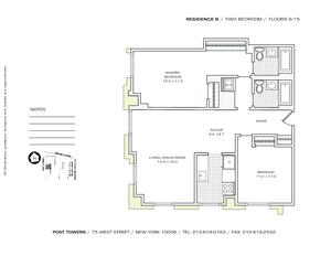 floorplan for 75 West Street #14B